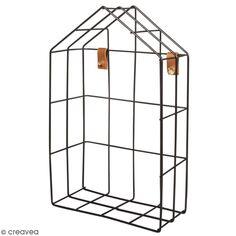 Accessoire pegboard - Etagère maison en métal Noir - 16 x 25 x 7 cm