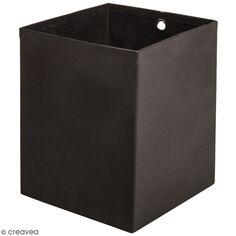 Accessoire pegboard - Pot à crayons carré Noir - 8 x 8 x 10 cm