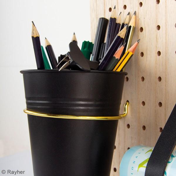 Accessoire pegboard - Pot en métal Noir - 11 cm - Photo n°2