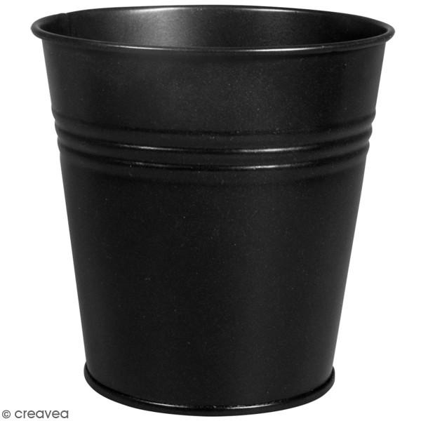 Accessoire pegboard - Pot en métal Noir - 11 cm - Photo n°1