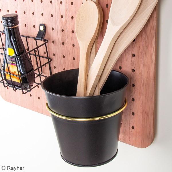 Accessoire pegboard - Pot en métal Noir - 12 cm - Photo n°2