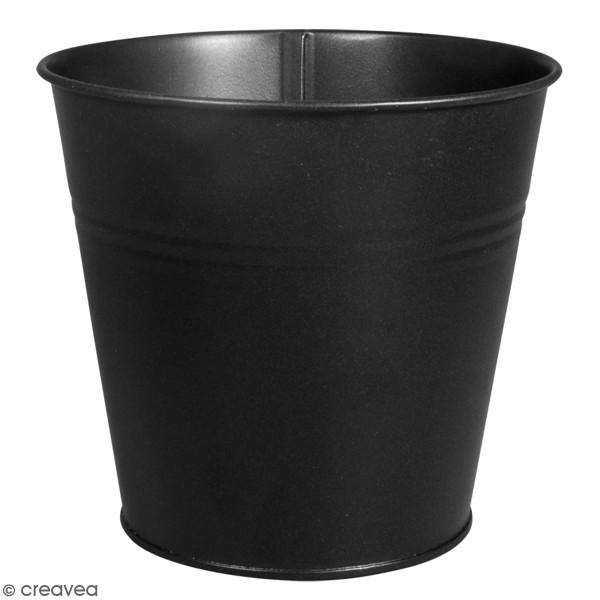 Accessoire pegboard - Pot en métal Noir - 12 cm - Photo n°1
