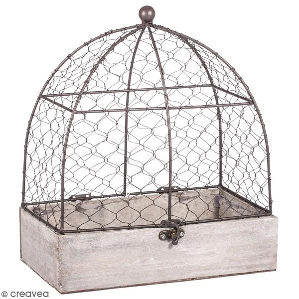Cage décorative - 14 x 25 x 30 cm - Photo n°1