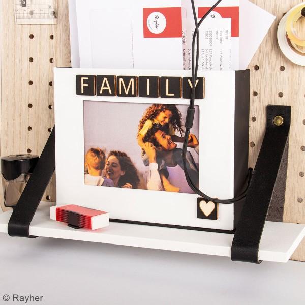 Accessoire pegboard - Etagère en bois naturel - 20 x 10 cm - Photo n°4