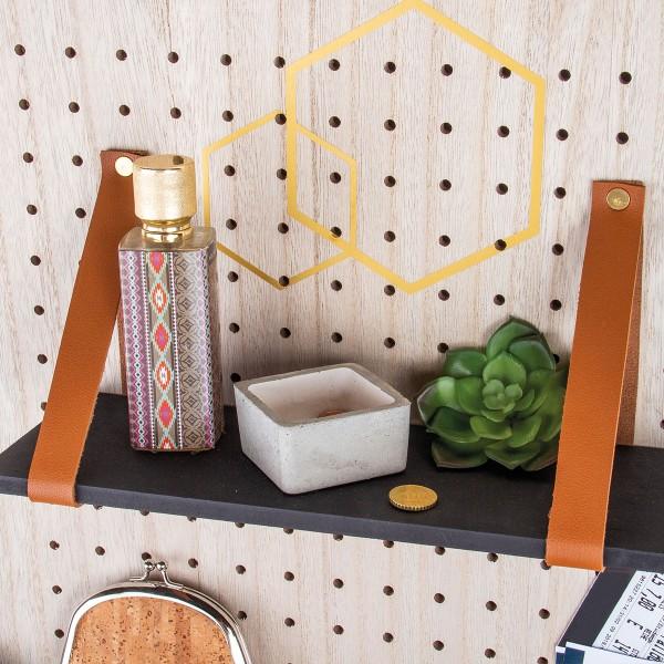 Accessoire pegboard - Etagère en bois naturel - 30 x 10 cm - Photo n°2