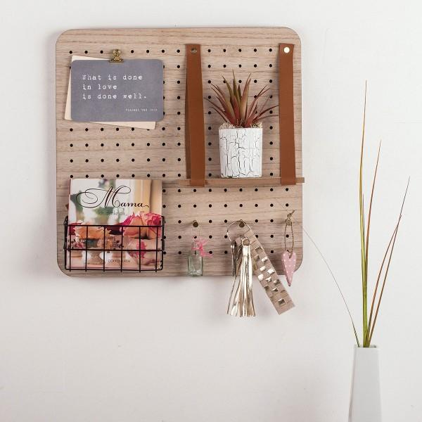 Pegboard en bois et accessoires - 40 x 40 cm - 11 pcs - Photo n°4