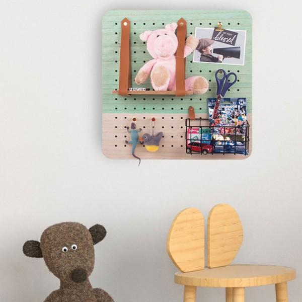 Pegboard en bois et accessoires - 40 x 40 cm - 11 pcs - Photo n°5