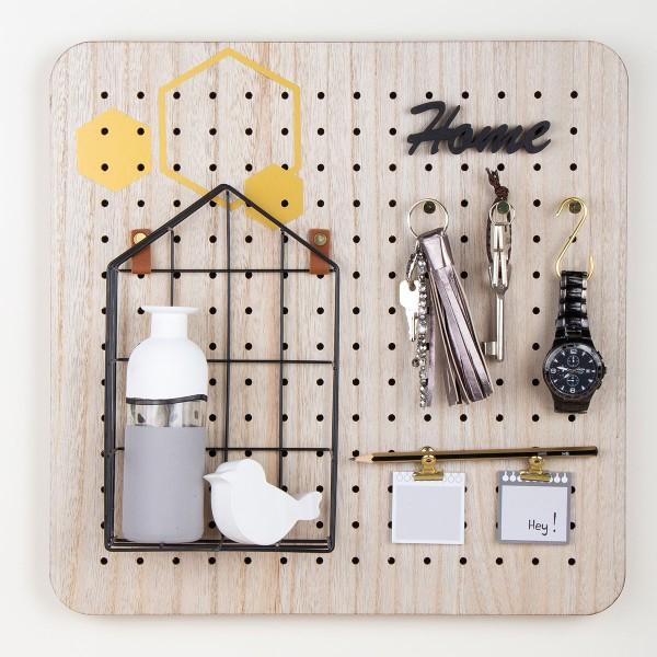 Pegboard en bois et accessoires - 40 x 40 cm - 11 pcs - Photo n°6