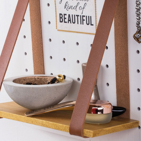 Accessoire pegboard - Bande en simili cuir marron - 2 x 138 cm - Photo n°2
