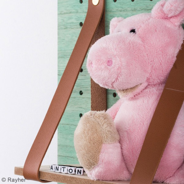 Accessoire pegboard - Bande en simili cuir marron - 2 x 138 cm - Photo n°4
