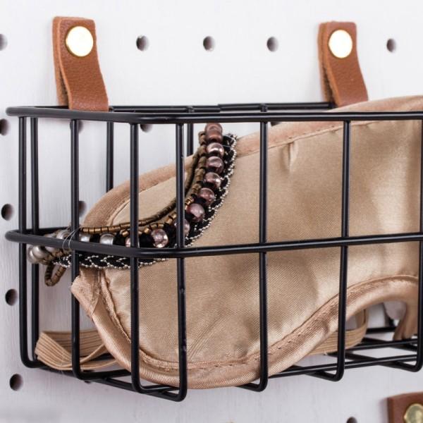 Accessoire pegboard - Bande en simili cuir marron - 2 x 138 cm - Photo n°5
