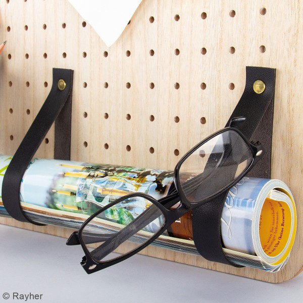 Accessoire pegboard - Bande en simili cuir Noir - 2 x 138 cm - Photo n°5