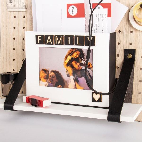 Accessoire pegboard - Bande en simili cuir Noir - 2 x 138 cm - Photo n°6