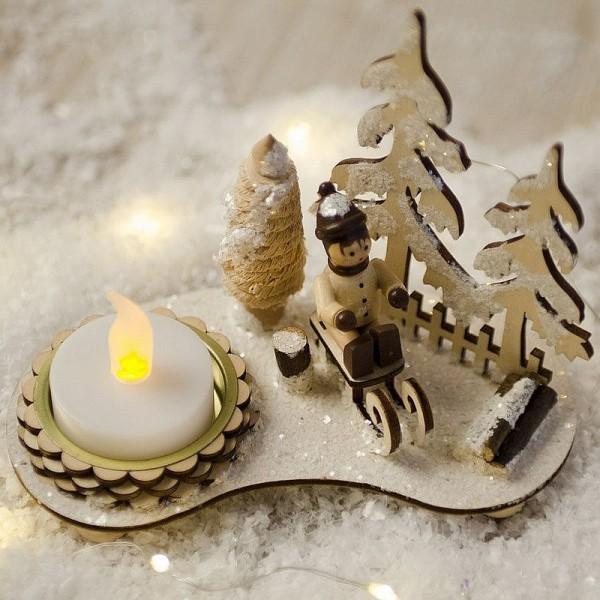 Lot de 10 Bougies chauffe-plat LED, lumière Jaune vacillante, h. 4,5 cm,  décoration de table - Photo n°2