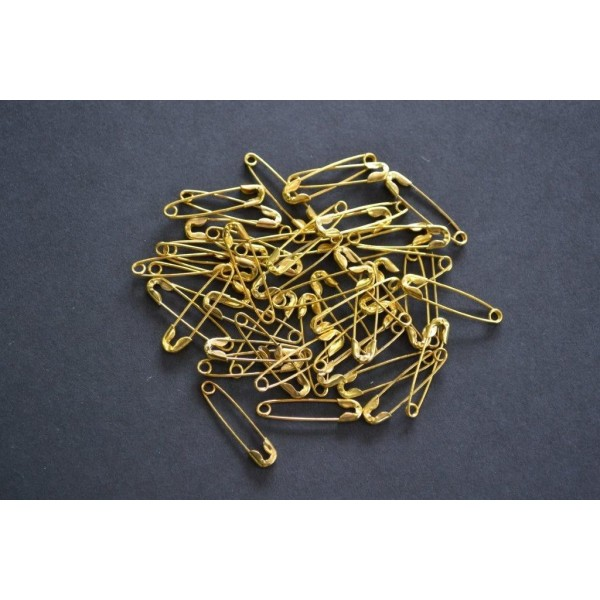 Epingle à nourrice dorée 20mm vendue par 10 pièces - Photo n°1