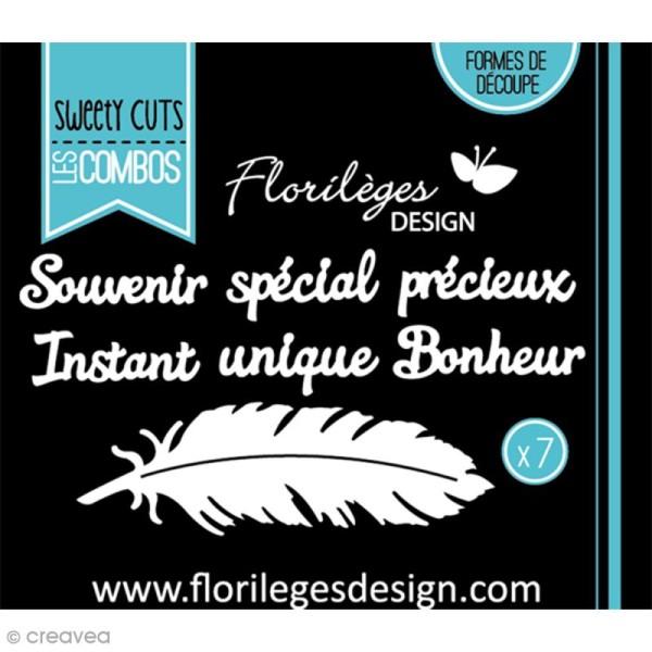 Die Florilèges Design - Les combos - A la plume - 7 pcs - Photo n°3