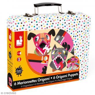 Coffret marionnettes Origami Animaux - 6 marionnettes