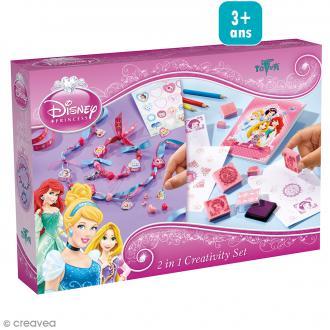 Kit créatif Princesses Disney 2 en 1 - Bijoux à créer + Tampons