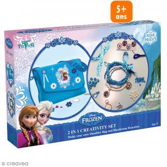 Kit créatif La reine des neiges 2 en 1 - Sac et bracelets
