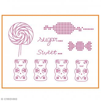 Feuille magique broderie Custom By Me - Summer - Bonbons - A4