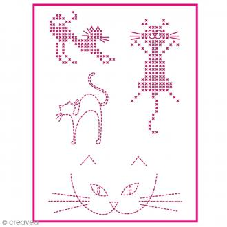 Feuille magique broderie Custom By Me - Fun - Chat - A4