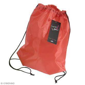 Sac de sport à customiser - Rouge - 35 x 43 cm