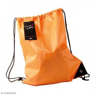 Sac de sport à customiser - Orange - 35 x 43 cm
