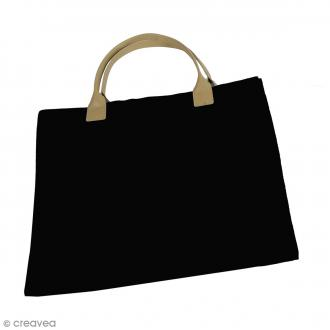 Sac à main à customiser - Noir - 34 x 40 cm