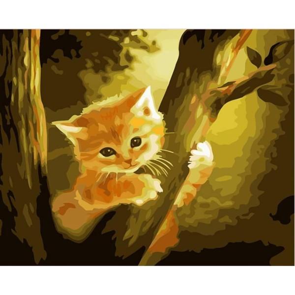 1pc Gingembre Orange Chaton Arbre de la Forêt Kitty Animal de compagnie Acrylique Bricolage Peinture - Photo n°1