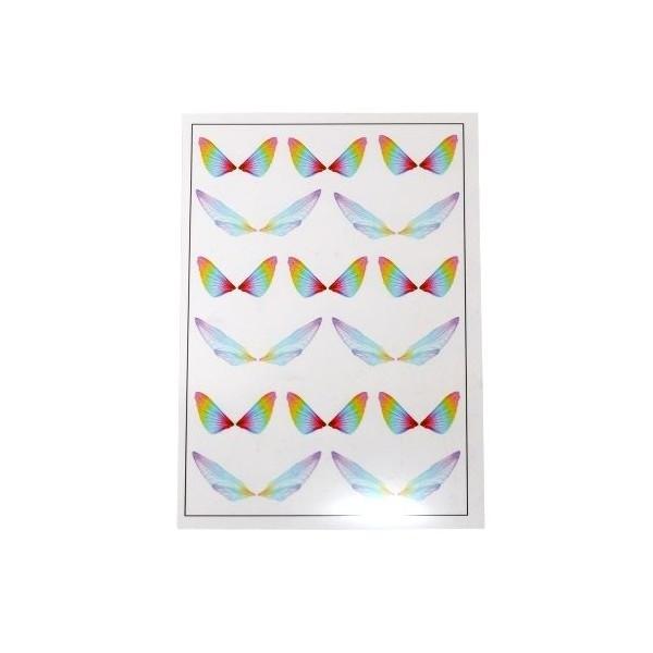 PS110109173 PAX de 1 Planche imprimées d'ailes de papillons pour bijoux résine Multicolores - Photo n°1