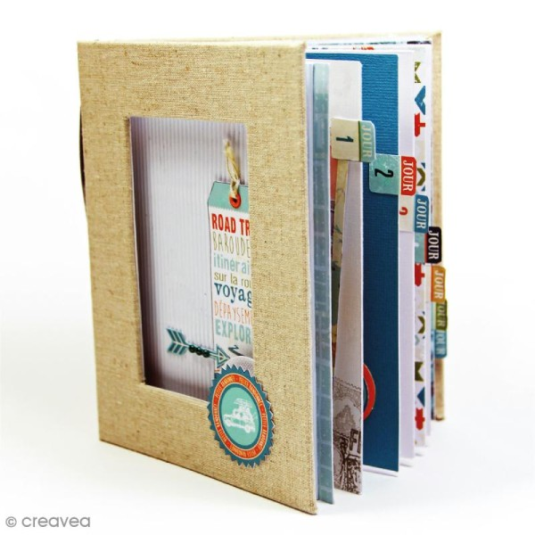 Kit album scrapbooking Toga - Globe trotter - Photo n°3