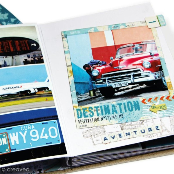 Kit album scrapbooking Toga - Globe trotter - Photo n°5