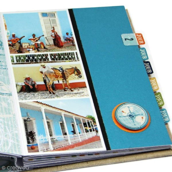 Kit album scrapbooking Toga - Globe trotter - Photo n°6