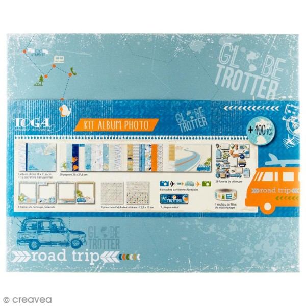 Kit album scrapbooking Toga - Globe trotter - Photo n°1