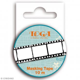 Masking tape Toga - Globe trotter - Négatif photo - 10 mètres