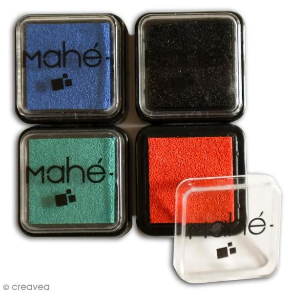 Encreur Mahé scrapbooking 3 x 3 cm - 4 couleurs de base - Photo n°2