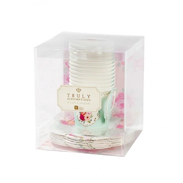 Gobelets tasse floral romance - Photo n°2