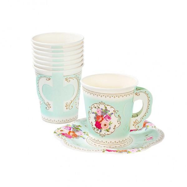 Gobelets tasse floral romance - Photo n°1