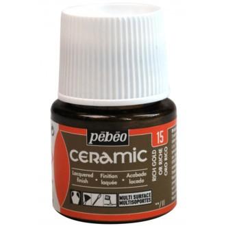 Peinture Céramic Pébéo - Brillante - Or riche - 45 ml
