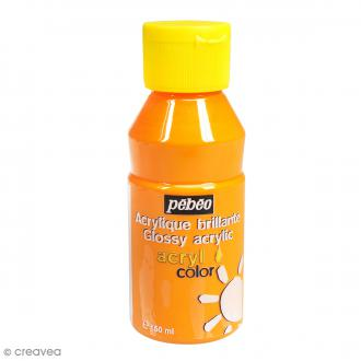 Peinture Acrylcolor brillante - Jaune doré - 150 ml