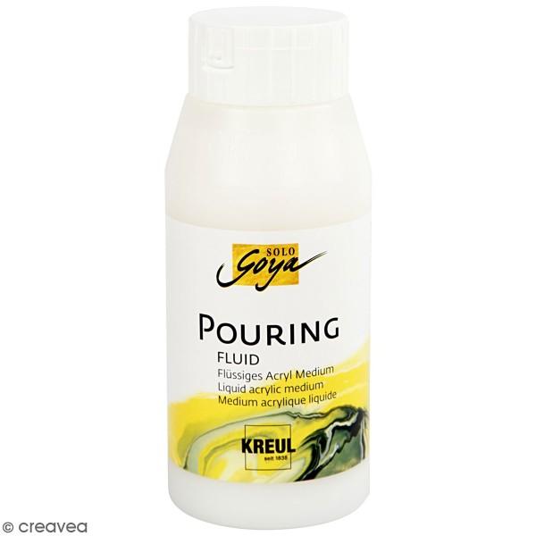 Pouring fluid - Medium acrylique pour technique de coulage - 750 ml - Photo n°1