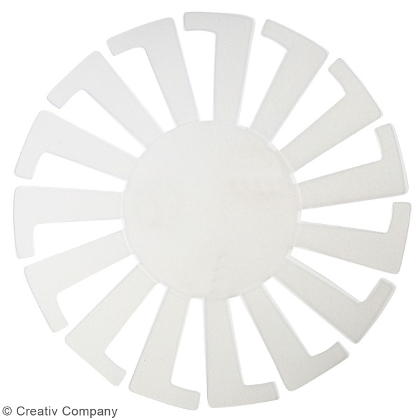 Gabarit pour tissage de panier transparent - 14 x 8 cm - 10 pcs - Photo n°2