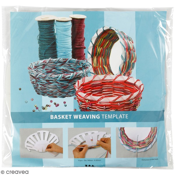 Gabarit pour tissage de panier transparent - 14 x 8 cm - 10 pcs - Photo n°1