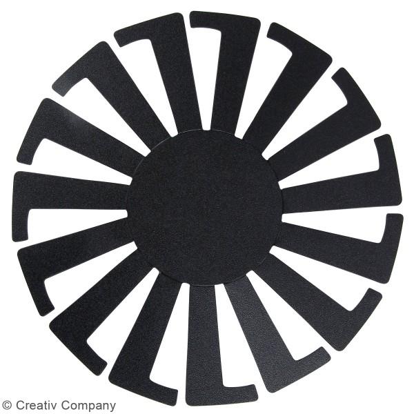 Gabarit pour tissage de panier noir - 14 x 8 cm - 10 pcs - Photo n°2