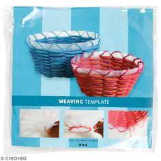 Gabarit pour tissage de panier transparent - 8 x 6 cm - 10 pcs