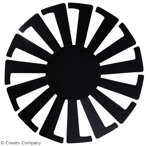 Gabarit pour tissage de panier noir - 8 x 6 cm - 10 pcs - Photo n°2