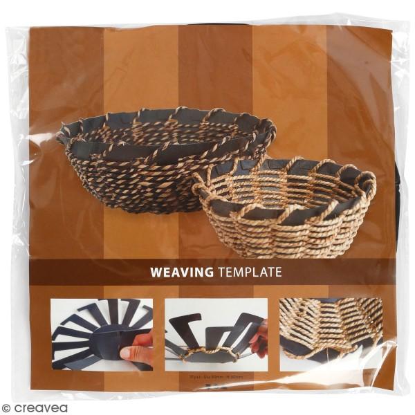 Gabarit pour tissage de panier noir - 8 x 6 cm - 10 pcs - Photo n°1