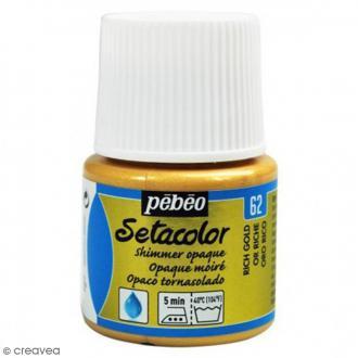 Peinture tissu Setacolor Pébéo - Moiré Opaque - Or Riche - 45 ml