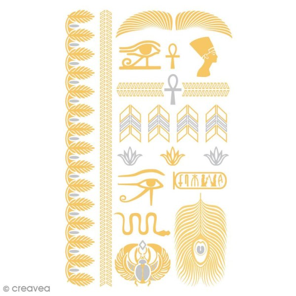 Tatouage temporaire Tattoo Chic - Egypte - 22 tattoos - Photo n°1