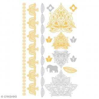 Tatouage temporaire Tattoo Chic - Elephants - 15 tattoos